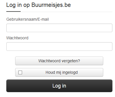buurmeisjes.be loginscherm